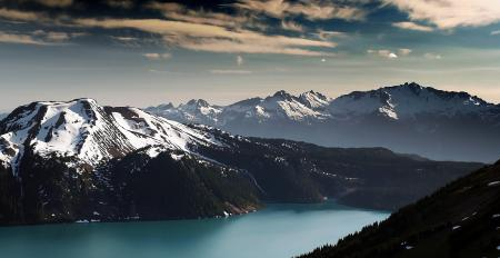 Фото горы, небо, лес, река