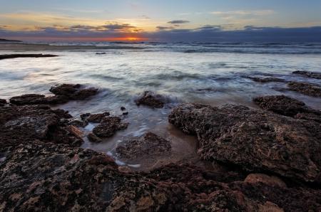 Картинки небо, море, камни, закат