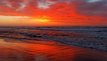 Фото красный, закат, море