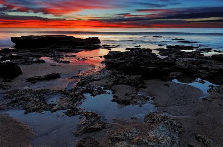 Фото море, небо, закат