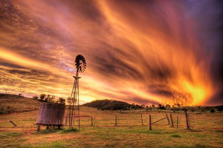 Заставки небо, огонь, облака, пламя