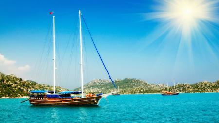 Заставки яхты, море, залив