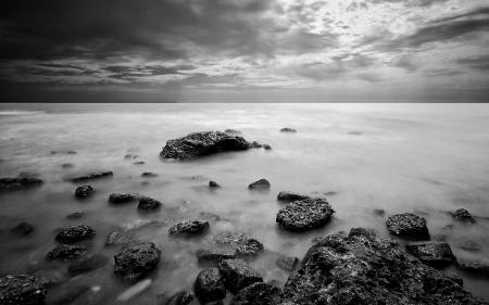Картинки пейзаж, природа, море, камни