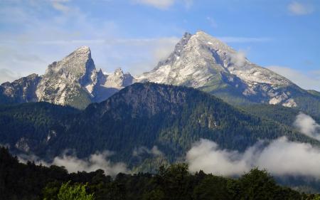 Фотографии гора, Вацманн, Альпы, Бавария