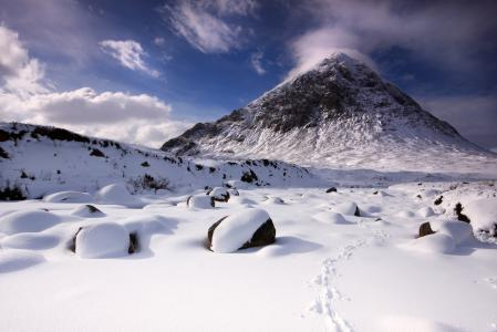 Картинки зима, гора, снег, камни