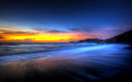 Картинки пейзаж, канары, канарские острова, закат