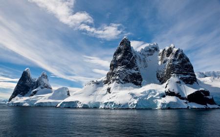 Обои Море, Вода, Горы, Скалы