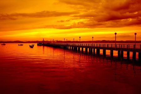 Фото Пейзаж, Море, Вода, Причал