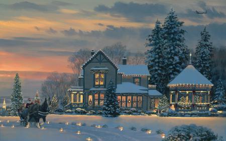 Фотографии праздник, Новый год, зима, снег