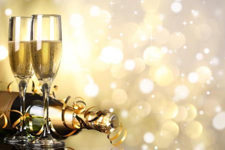 Заставки champagne, holiday, Christmas, Merry Christmas