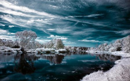Заставки пейзаж, вода, деревья, небо