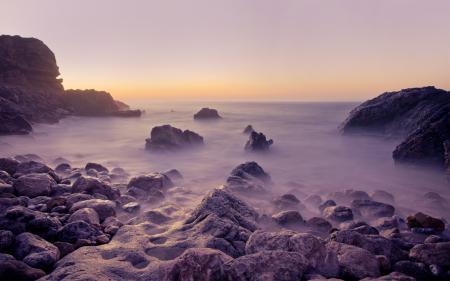 Фотографии камни, море, закат, скалы