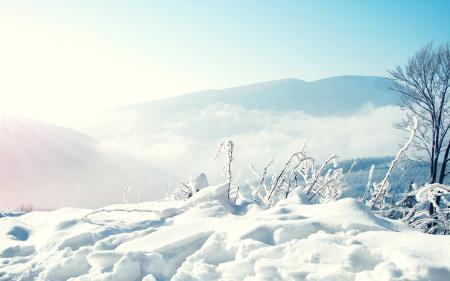 Картинки зима, снег, горы