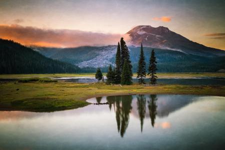 Заставки гора, лес, озеро, природа