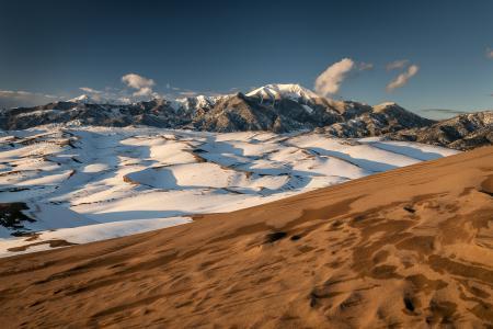 Картинки снег, песок, холмы, горы