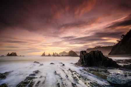 Заставки море, камни, скалы, берег