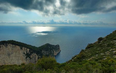 Заставки море, горы, утесы, пейзаж