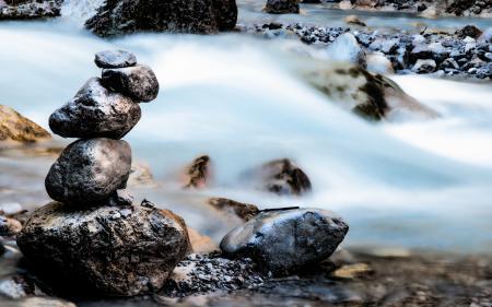 Фото камни, вода, поток, природа