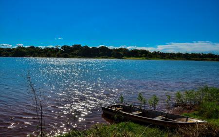 Обои река, лодки, Бразилия, Сан-Паулу