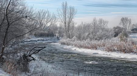 Фотографии небо, облака, зима, снег