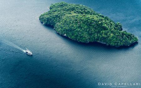 Фото природа, океан, залив, яхта