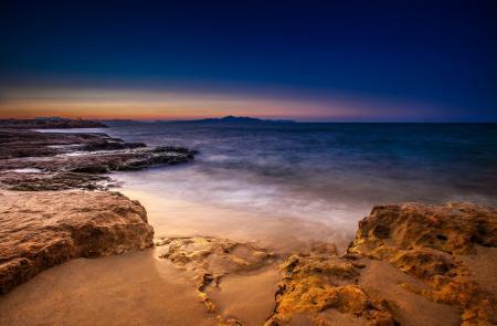 Фото вечер, океан, шторм, берег
