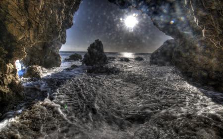 Картинки скалы, море, волны, природа