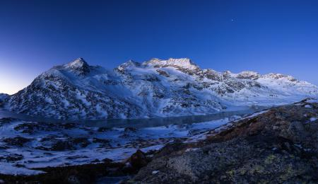 Заставки Горы, снег, небо, зима
