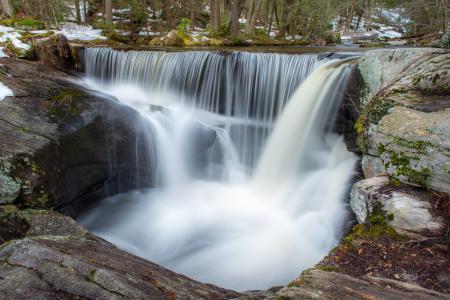 Фото лес, река, водопад, камни
