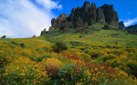Заставки небо, горы, скалы, трава