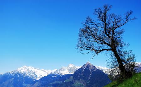 Картинки небо, горы, вершина, снег