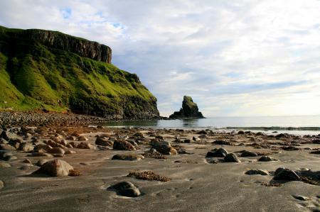 Картинки шотландия, камни, берег, холм