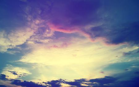 Фото небо, закат, облака, тучи