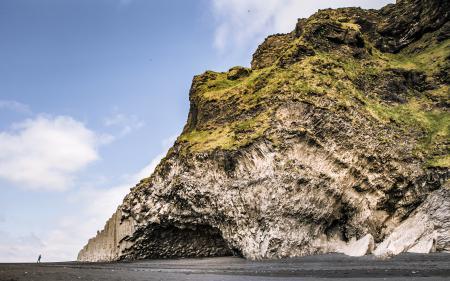 Заставки Iceland, гора, пещера, пляж