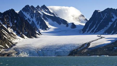 Заставки небо, горы, снег, ледник
