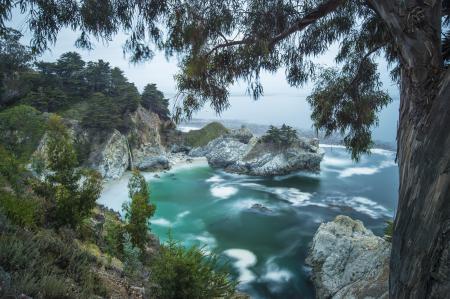 Фотографии море, пляж, скалы, водопад
