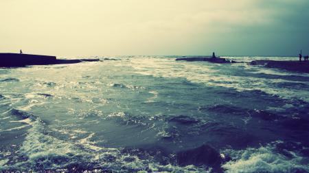 Картинки Природа, море, берег, прилив