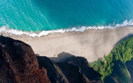 Фото море, берег, линия, прибой