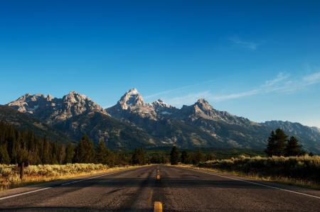 Картинки дорога, трасса, лес, горы