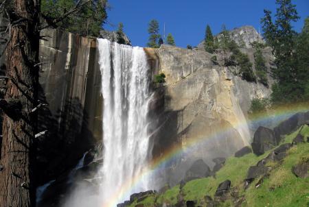 Обои горы, скалы, водопад, природа