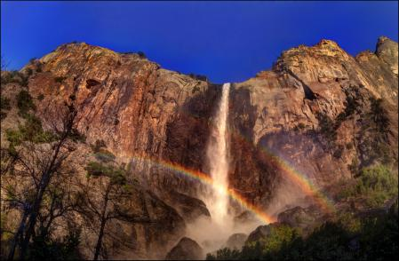 Обои парк, США, водопад, Калифорния
