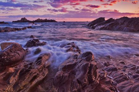 Обои природа, камни, море, волны