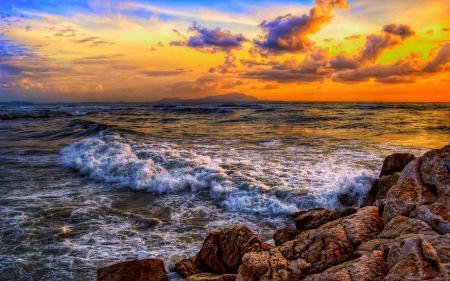 Обои природа, небо, облака, море