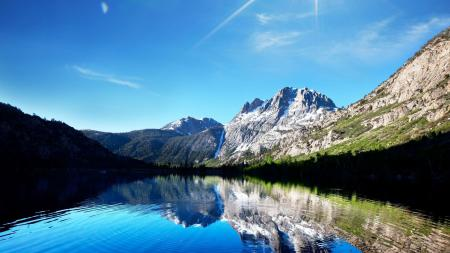 Фото природа, озеро, горы, небо