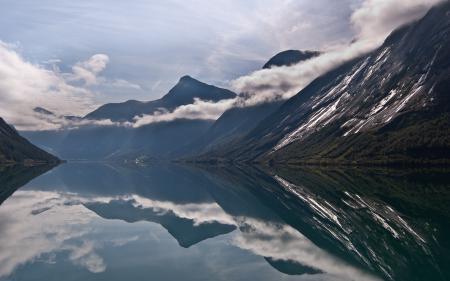 Фото Norway, Норвегия, озеро, горы