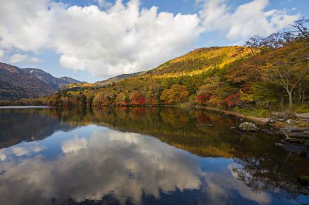 Фото горы, лес, осень, озеро