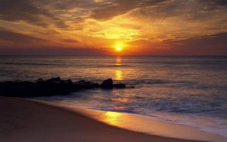 Фотографии природа, закат, камни, берег