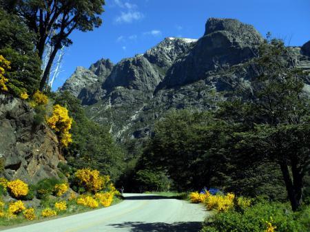 Обои пейзаж, горы, дорога, Patagonia
