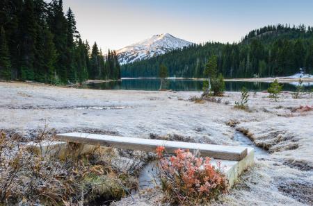 Фотографии зима, иней, горы, США