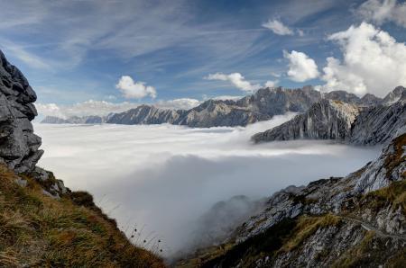 Фото горы, вершины, небо, облака